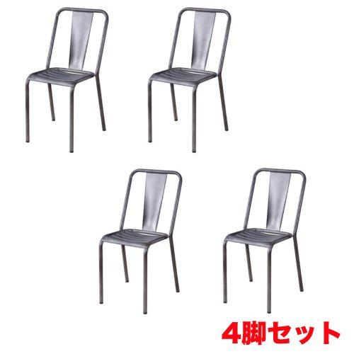 スタッキングチェア 4脚セット チェアセット スチール製チェア ダイニングチェア 肘なしチェア シンプル モダン チェア 椅子 おしゃれ PC-506S