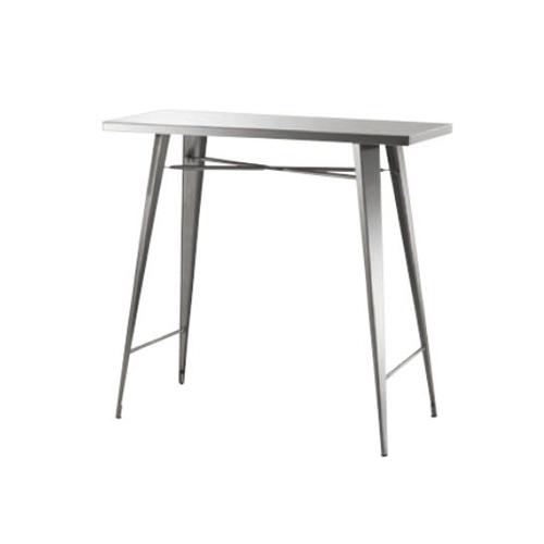 カウンターテーブル ハイテーブル ハイタイプテーブル 長方形 角型天板 ステンレス製 シンプル テーブル おしゃれ ステンレス STN-336