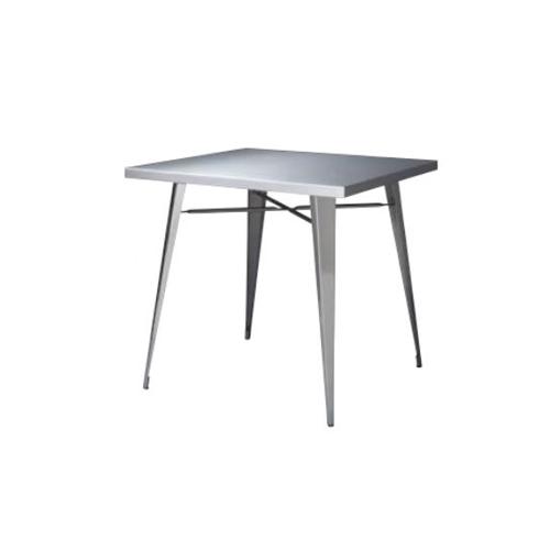 ダイニングテーブル 正方形 角型テーブル 二人用 食卓 ステンレス製テーブル シルバー シンプル おしゃれ テーブル ステンレス STN-337