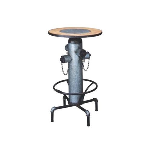 カウンターテーブル ハイテーブル 丸型天板 丸型テーブル スチール脚 おしゃれ モダン 天然木 リビング カフェ 飲食店 テーブル TTF-214