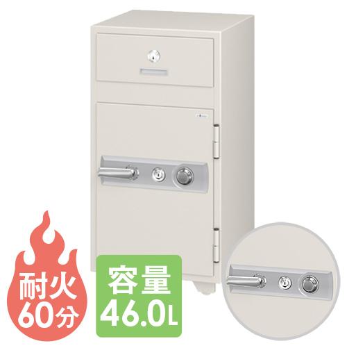 投入式耐火金庫 PS-50 エーコー ダイヤル コンビニ