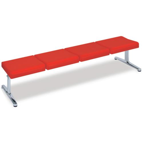 ロビーチェア 4人掛け 長椅子 ベンチ TB-1145-03 送料無料 LOOKIT オフィス家具 インテリア