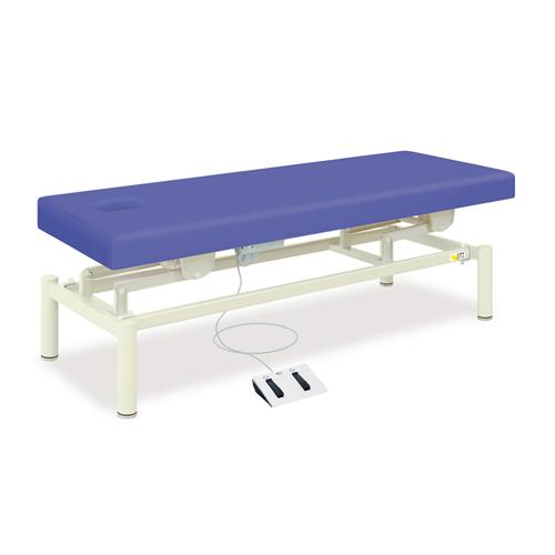 マッサージベッド 有孔無孔選択式 施術台 ビニルレザー張り 診察台 医療施設 病院 設備 ベッド 充電式電動ハイロー 送料無料 TB-1454