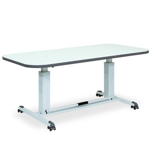 昇降テーブル 送料無料 幅90cm リハビリテーブル 天板 折りたたみ キャスター付き 可動式 高さ調整 ガスシリンダー 食堂 大型 ダイニングテーブル TB-256-01