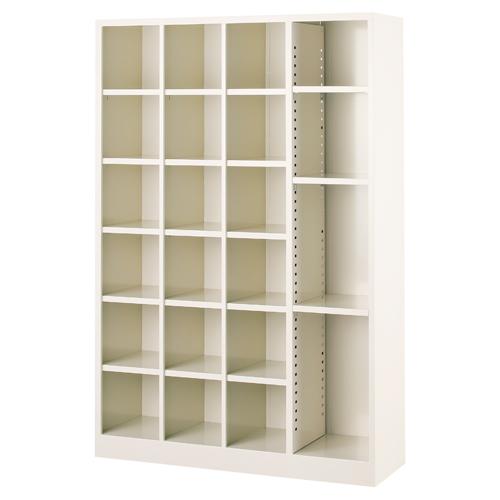 シューズボックス 3列6段+1列フリー 下駄箱 備品 保管庫 可変 棚板 BS-F461 LOOKIT オフィス家具 インテリア