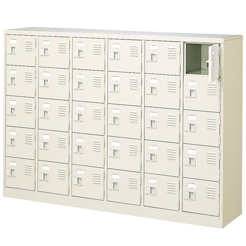 30人用シューズロッカー 6列5段 鍵付き BST6-5WK(N) ルキット オフィス家具 インテリア