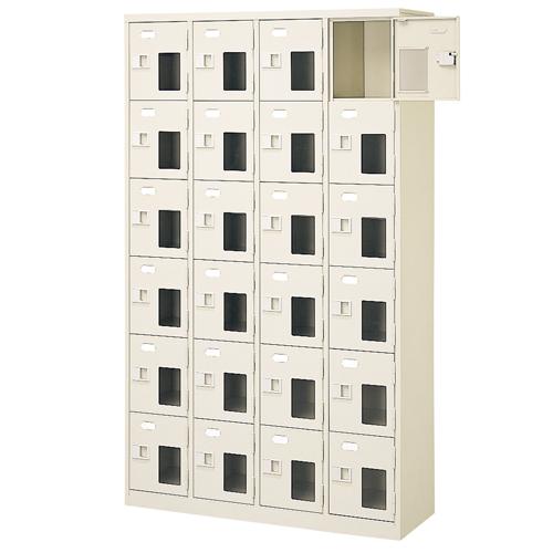 24人用シューズロッカー 4列6段 鍵なし BST4-6NNMX(N) ルキット オフィス家具 インテリア