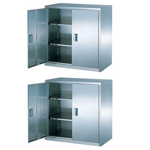 両開き書庫 セット 観音開き 戸棚 棚 BSU-99RSS LOOKIT オフィス家具 インテリア
