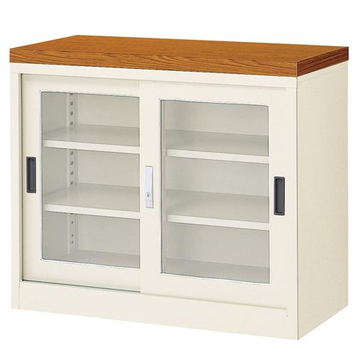 ガラス引戸書庫 BER-ST10T(N) 1列3段 キャビネット ルキット オフィス家具 インテリア