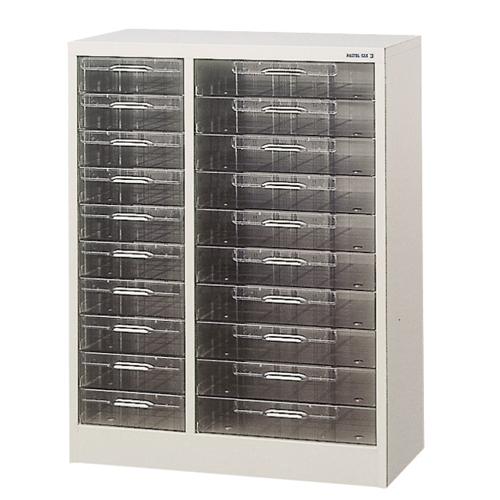 レターケース 2列10段 コンビ書庫 棚 CDAB4-210L LOOKIT オフィス家具 インテリア