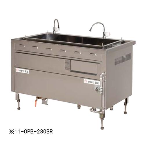 ★送料無料★ ゆで麺器 うどん屋 ゆで釜式 ゆで OPB-280BL LOOKIT オフィス家具 インテリア