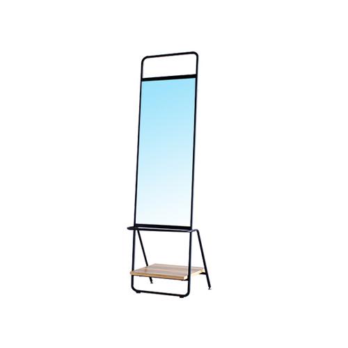 スタンドミラー 姿見 鏡 おしゃれ 棚 全身 カフェ レトロ ヴィンテージ かわいい アイアン インダストリアル インテリア 棚付き鏡 RUCORA RUCORA-M