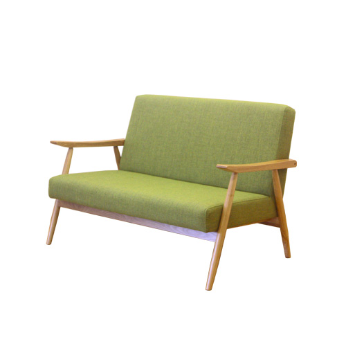 ソファ 2人掛け ソファー 椅子 イス ファブリック 応接 北欧風ソファー 木製ソファー アームソファー ロビーチェアー ダイニングソファー 布 air-2p