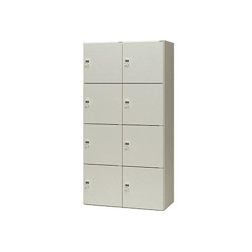 8人用ロッカー 2列4段 ダイヤル錠 PLN0918D-8-AW ルキット オフィス家具 インテリア