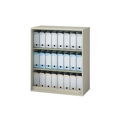 ガラス引き違い書庫 キャビネット NWS-0911AG-AW ルキット オフィス家具 インテリア