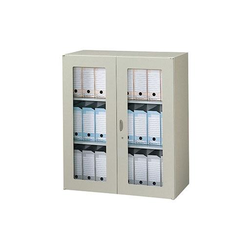 ガラス両開き書庫 書類 収納 会社 NWS-0911KG-AW ルキット オフィス家具 インテリア