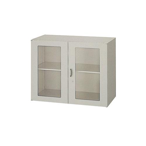 ガラス両開き書庫 収納 送料無料 NWS-0907KG-AW LOOKIT オフィス家具 インテリア