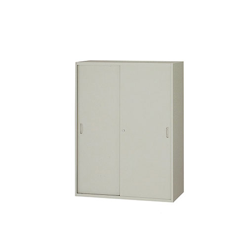 スチール引き違い書庫 鍵付 引戸 棚 NW-0912H-AW ルキット オフィス家具 インテリア