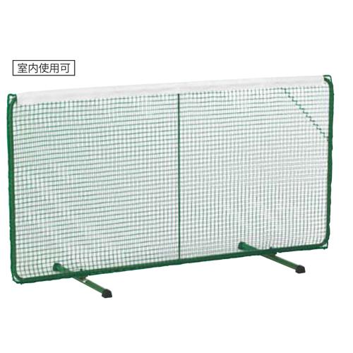 テニスフェンス 屋内兼用 折り畳み式 白帯付き テニスネット ダブルネット 防球ネット フェンス スチール製 省スペース テニス 練習 体育館 ストローク S-0163