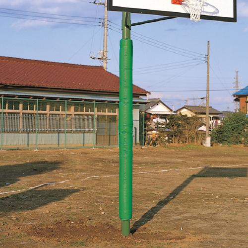 防護マット 単柱用 D管ベルト式 バスケットボール バスケ 保護カバー 安全対策 学校 授業 施設 体育用品 校庭 スポーツ施設 カバー クッション 支柱 S-0322