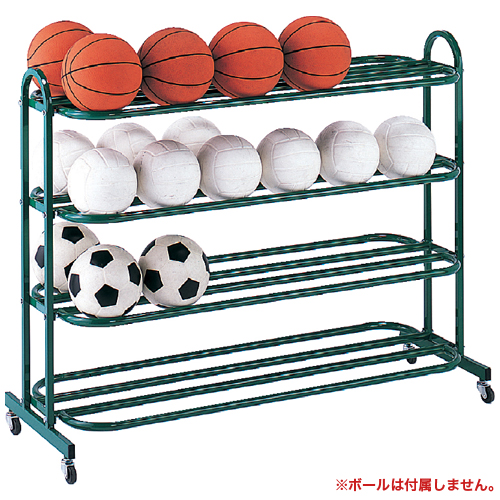 ボールキャリー 4段 収納棚 体育館 ボール棚 S-0364 LOOKIT オフィス家具 インテリア