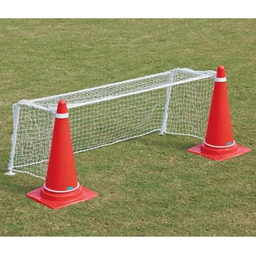 ミニサッカーゴール 2台1組 コーンゴール ネット付き ポリエチレン 簡単 分解 組立 セット 持ち運び レクリエーション 子ども会 ミニゲーム S-0900