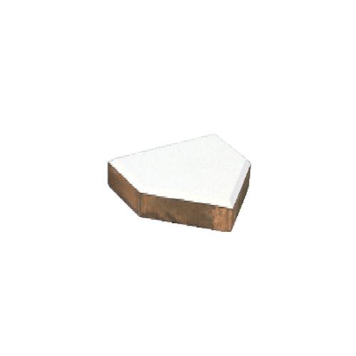ホームベース 木台付 一般用 テーパー型 ゴム厚 20mm 木台 100mm ゴムベース 野球 ソフトボール グラウンド 学校 施設 部活 球技場 体育用品 備品 S-4607