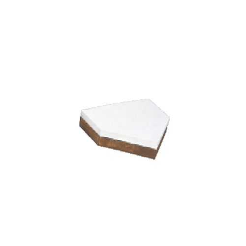 ホームベース 少年用 木台付 テーパー型 ゴム厚 20mm 木台 100mm ゴムベース 野球 ソフトボール グラウンド 学校 施設 部活 球技場 体育用品 備品 試合 S-4630 LOOKIT オフィス家具 インテリア
