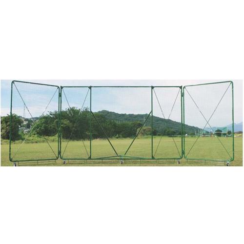 バックネット 幅3m 高さ9m 移動式 ひさし無し キャスター ストッパー付き 野球 自立式 防球ネット 防護ネット 防球フェンス グランド用品 備品 設備 学校 S-4754
