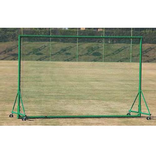 移動式防護ネット 幅4m 高さ2.5m 日本製 アルミ枠 キャスター ストッパー付き 軽量 フェンス 野球練習用 野球用品 防球ネット 部活 野球 テニス 安全対策 S-4772 ルキット オフィス家具 インテリア