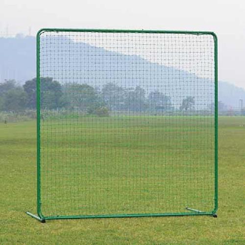 防球ネット 幅2m 高さ2m L字脚 自立式 日本製 防護 ネット 片脚 バックネット フェンス 野球 テニス 部活動 練習用品 球技 グラウンド 安全対策 S-4774 LOOKIT オフィス家具 インテリア