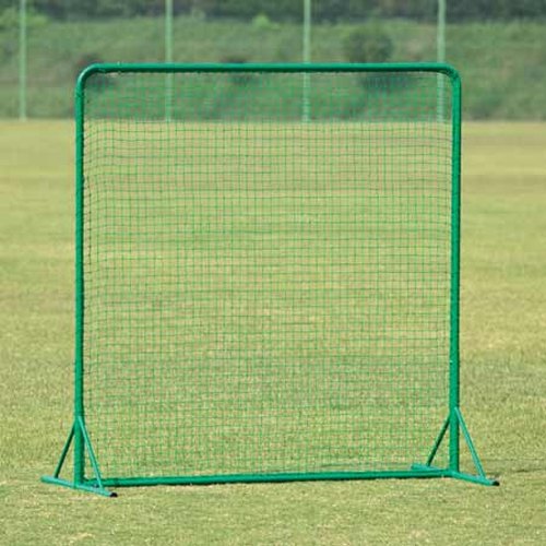 防球ネット 幅2m 高さ2m アルミ製 軽量 自立式 頑丈 野球 練習用 防護 ネット フェンス バックネット 守備 部活 テニス 安全対策用 グラウンド 備品 S-4793