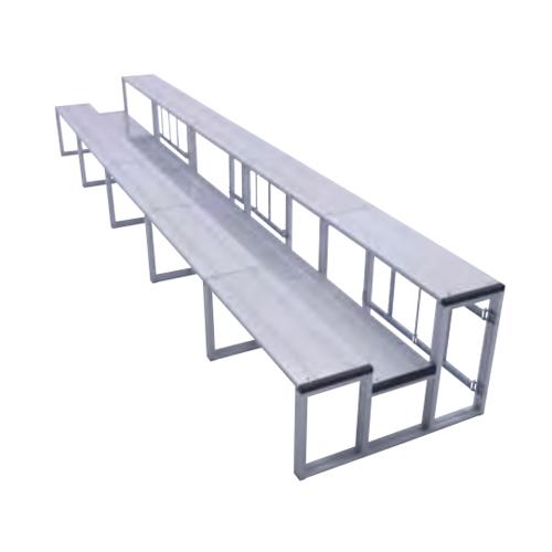 観客席 観覧席 ステップ 座席 見物席 アルミ製 軽量 収納 組立簡単 観戦 試合 競技場 スタジオ イベント S-7010
