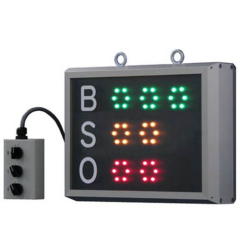 BSOカウンター 野球 LEDランプ 乾電池 家庭用 コンセント 電源 2way 省電力 吊り下げ用リング付き 簡易防水 試合 練習 遠征 合宿 備品 電気 S-7121 ルキット オフィス家具 インテリア