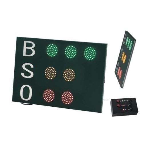 BSOカウンター LED カウントボード BSO掲示板 SBO 防滴仕様 小型コントローラー付 野球用品 ストライクカウンター 試合 ゲーム 部活 学校 スポーツ施設 S-7122