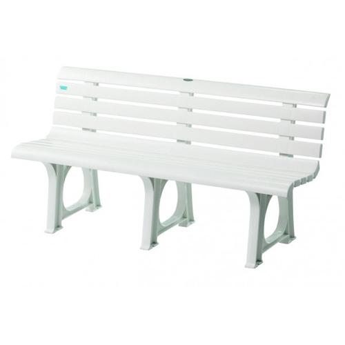 ベンチ プラスチックベンチ 白 軽量 ポリプロピレン 水に強い プール 可愛い 家庭 店舗 施設 スイミングスクール レジャー 公園 屋外 庭 樹脂 S-8490