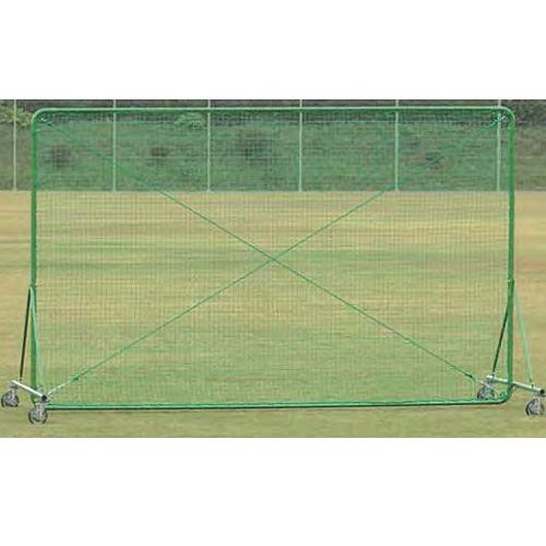移動式防護ネット 幅4m 高さ2.5m 国産 キャスター ストッパー付き フェンス 野球練習用 練習場 野球 テニス 備品 安全対策 スポーツ施設 教育施設 S-9474 ルキット オフィス家具 インテリア