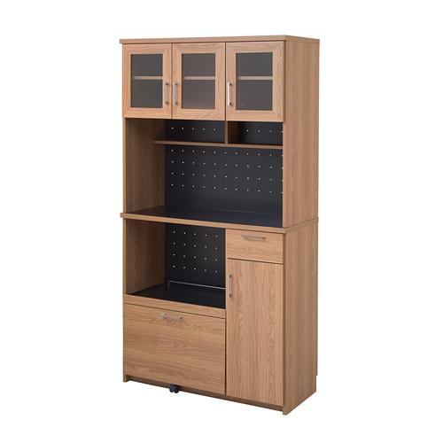 レンジボード 幅90cm キッチン収納 食器棚 キッチン家電収納 収納棚 おしゃれ 木目 モダン 北欧 機能的 インテリア FAP-0018 送料無料 ルキット オフィス家具 インテリア