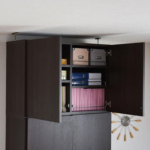 本棚 深型 ラック 扉付き 上置き 幅81 MEMORIA 棚板が1cmピッチで可動する 送料無料 FRM-0110DOOR