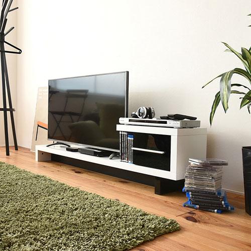 テレビ台 ローボード 幅140 テレビボード フロアータイプ デザイン テレビ台 40型 対応 TV台 リビングボード テレビラック ロータイプ 送料無料 FTV-0001