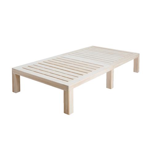ステージベッド シングルサイズ 幅100cm すのこベッド 天然木フレーム 木製フレーム ベッドフレーム 寝室 寝具 ベッド シンプル LSSH-500S