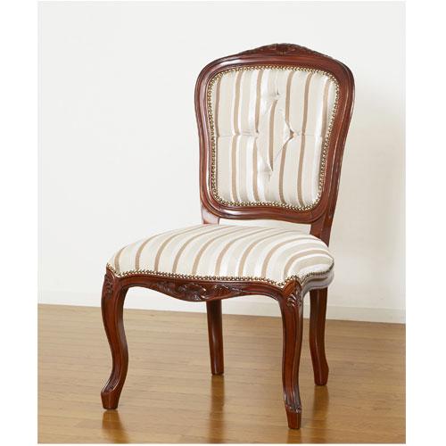 ダイニングチェア 肘なし 高級 優雅 椅子 チェア 上品 天然木 アンティーク調 レトロ 素敵 おしゃれ リビング ラウンジチェア 28560