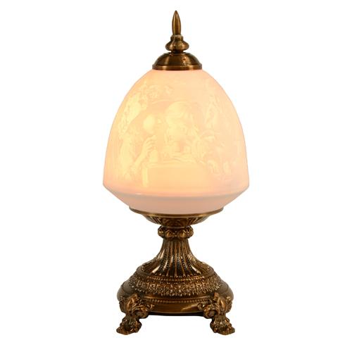 テーブルランプ 送料無料 卓上ランプ 磁器ランプ デスクランプ シェードランプ 透かしランプ 透かし彫り ロマンチック 白 ホワイト CHN-0017-B