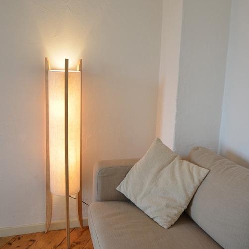 フロアライト フロアランプ 2灯 LED 天然木 リネン ナチュラル かわいい おしゃれ リビング 寝室 玄関 間接照明 ランプ スタンド ライト 照明 送料無料 LC10781