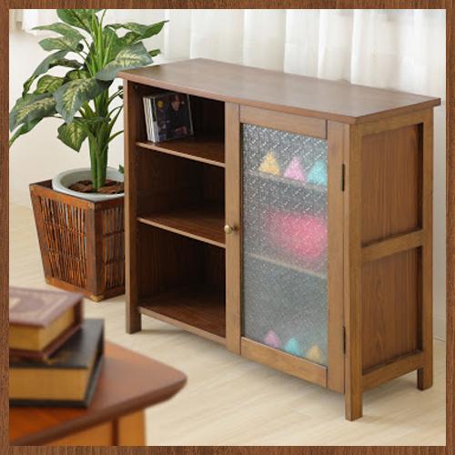 サイドボード 木製 棚 キャビネット 収納 レトロ 75-310 LOOKIT オフィス家具 インテリア
