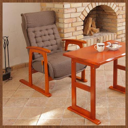 高座椅子セット 木製テーブル 布張り チェア イス リクライニング 82-7182S3 LOOKIT オフィス家具 インテリア