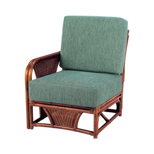 応接椅子 布張り チェア 籐チェア ワンアーム イス 1人掛け 来客用 待合室 ロビー おしゃれ A-600-1D LOOKIT オフィス家具 インテリア