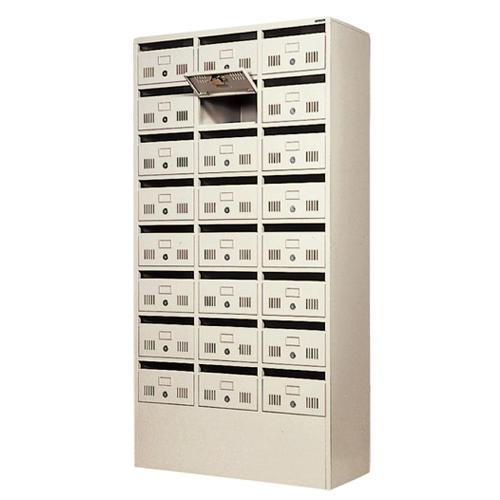 郵便ポスト 24人用 メールボックス ロッカー 鍵付きロッカー 分類ボックス オフィス 店舗 事務所 施設 MB-2438NA-TNG