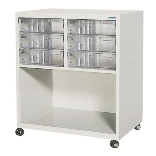 コンビ書庫 キャスター付き 引出し付き 収納ワゴン 移動式収納 小物収納 医薬品収納 書類収納 オフィス 医療機関 福祉施設 MFC-B1032