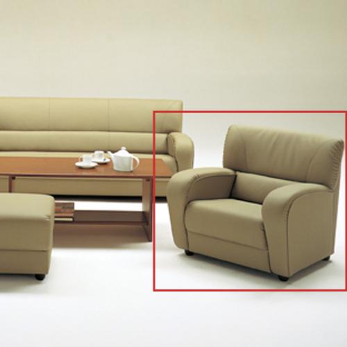 アームチェア ビニールレザー張り 一人用ソファ 応接用 応接家具 応接ソファ チェア 応接室 役員室 モダン NC-2702AC